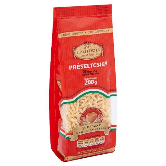 Izsáki Házitészta Juhászné Száraztésztája Rotini Dry Pasta Made with 8 Eggs 200 g
