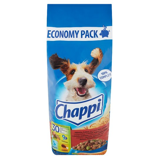 Chappi Complete Pet Food for Adult Dogs with Beef, Poultry and Vegetables 13,5 kg
