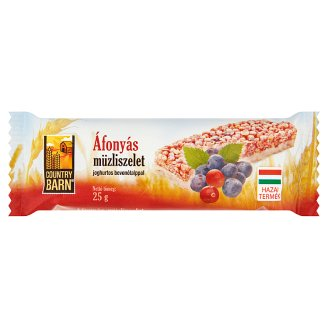 Country Barn Blueberry Flavoured Muesli Bar with Yoghurt Base 25 g