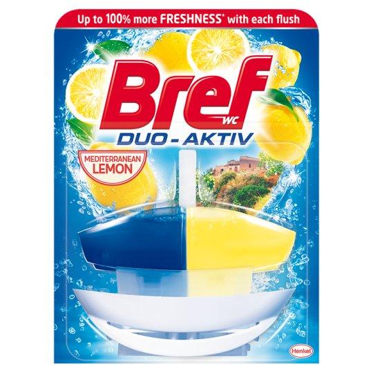 Bref Duo Aktiv Lemon Toilet Block 50 ml