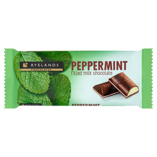 Ryelands Chocolate Peppermint Filled Milk Chocolate 100 g