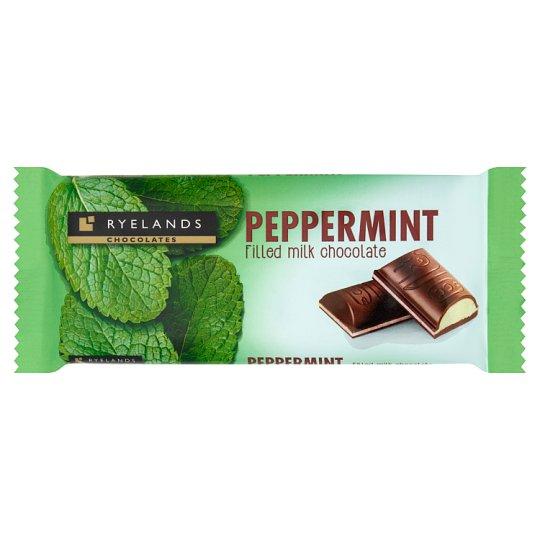 Ryelands Chocolates tejcsokoládé menta ízű töltelékkel 100 g