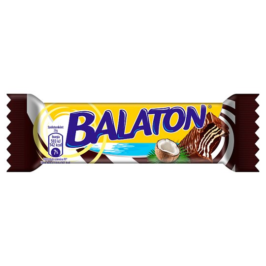 Balaton Cocoa Covered Cocoa Wafer Filled with Coconut Cream 28 g