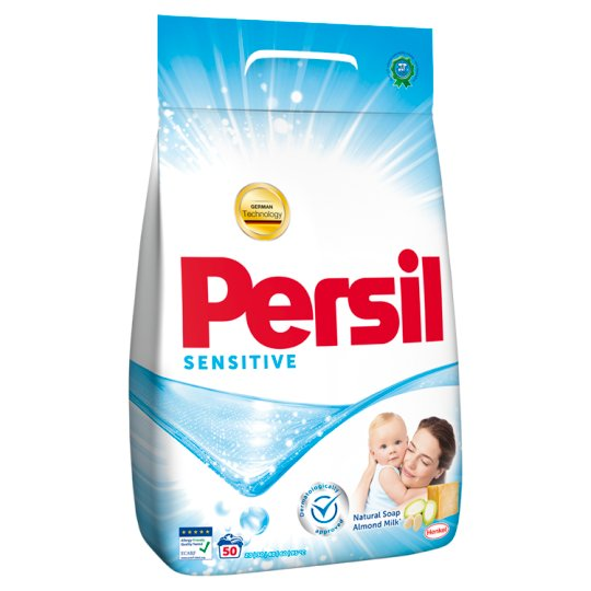 Persil Sensitive mosópor fehér ruhákhoz 50 mosás 3,25 kg