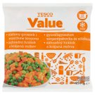 Tesco Value gyorsfagyasztott sárgarépakocka és zöldborsó 450 g