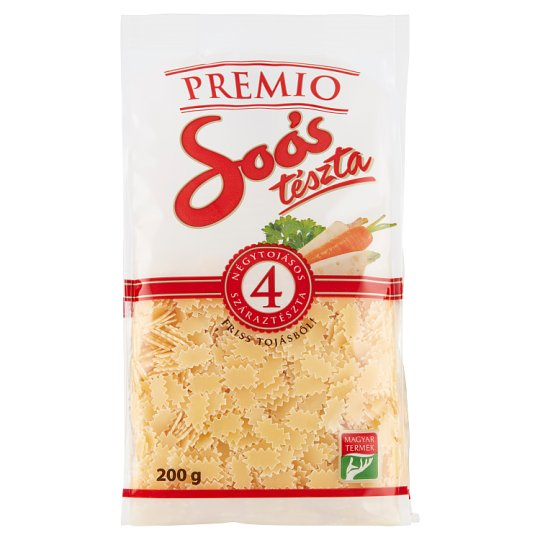 Soós Premio Strawberry Leaf Dried Pasta with 4 Eggs 200 g
