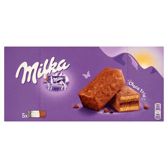 Milka Choco Trio alpesi tejcsokoládéval mártott kakaós krémmel töltött piskóta 150 g