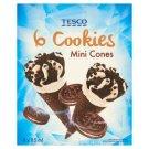 Tesco Cookies Vanilla Flavoured Ice Cream with Biscuit Crumbs, Chocolate Coating in Cone 6 x 85 ml