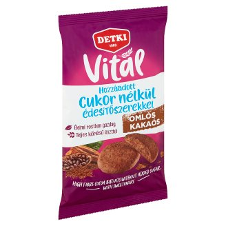 Detki Sugar Free Biscuits with Cocoa and Sweeteners 180 g