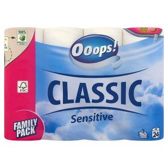 Ooops! Classic Sensitive toalettpapír 3 rétegű 24 tekercs