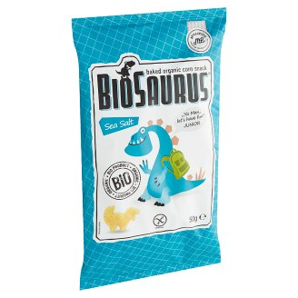 BioSaurus Baked Organic Corn Snack with Sea Salt Seasoning 50 g