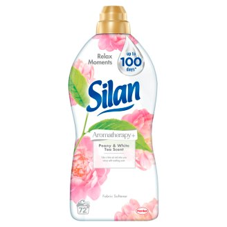 Silan Aromatherapy+ Peony & White Tea Scent Fabric Softener 72 Washes 1800 ml
