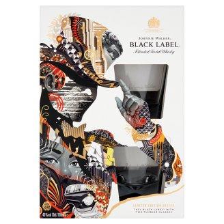 Johnnie Walker Black Label skót whisky + 2 pohár 40% 700 ml