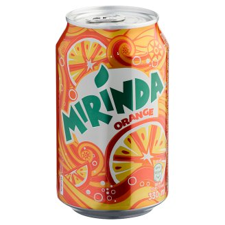 Mirinda Orange Carbonated Drink with Sugar and Sweeteners 330 ml