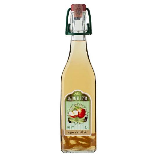 Szatmári Apple Palinka on Fruit Bed 38% 0,5 l