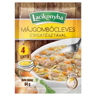 Lacikonyha Liver Dumpling Soup with Spiral Pasta 64 g