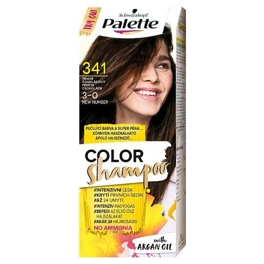 Schwarzkopf Palette Color Shampoo hajszínező 3-0 fekete csokoládé (341)