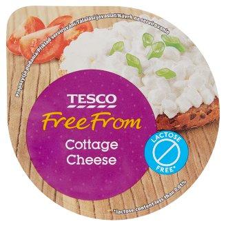 Tesco Free From laktózmentes zsírszegény, szemcsés friss sajt 180 g