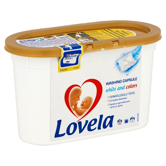 Lovela Washing Capsules for White and Colors 12 Washes 228 ml