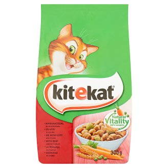 Kitekat Complete Pet Food for Adult Cats with Beef and Vegetables 300 g