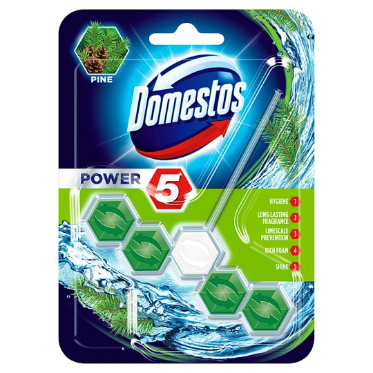 DOMESTOS Power5 Toilet Rimblock Pine 55 g