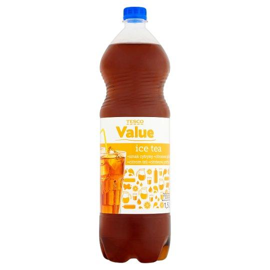 Tesco Value Ice Tea citrom ízű üdítőital édesítőszerekkel 1,5 l