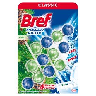 Bref Power Aktiv Pine toalett frissítő fenyő illattal 3 x 50g