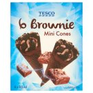 Tesco Brownie Chocolate Flavoured Ice Cream with Chocolate Coating, Biscuit Crumbs in Cone 6 x 85 ml