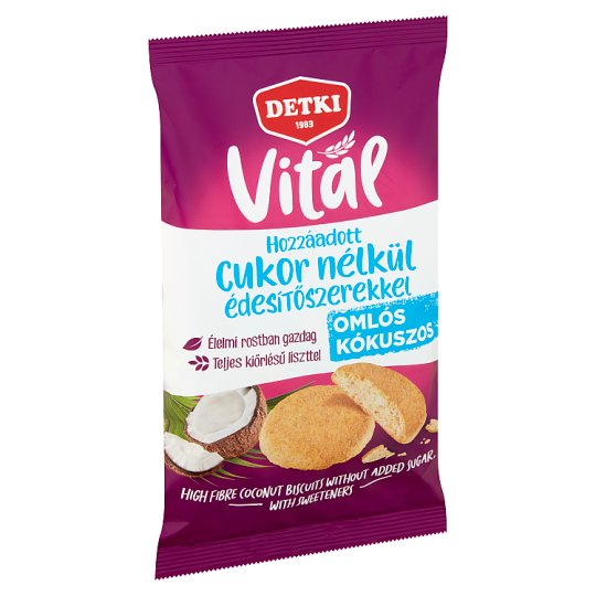 Detki Sugar Free Biscuits with Coconut and Sweeteners 180 g