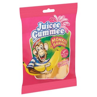 Juicee Gummee Monkeys & Bananas Fruit Flavoured Gums 80 g