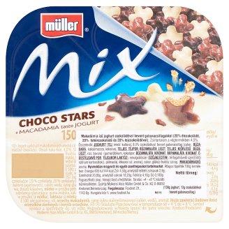 Müller Mix Choco Stars Macadamia Yoghurt with Chocolate Covered Cereal Stars 150 g
