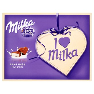 Milka I ♥ Milka Alpine Milk Chocolate Pralinés with Milky Cream Fillings 120 g