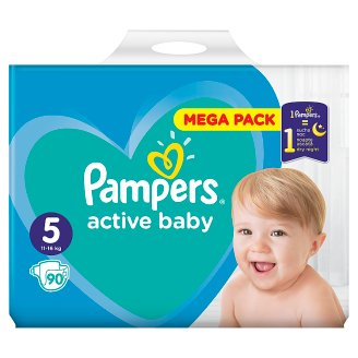 Pampers Active Baby, 5-as Méret, 90 db Pelenka, 11-16 kg
