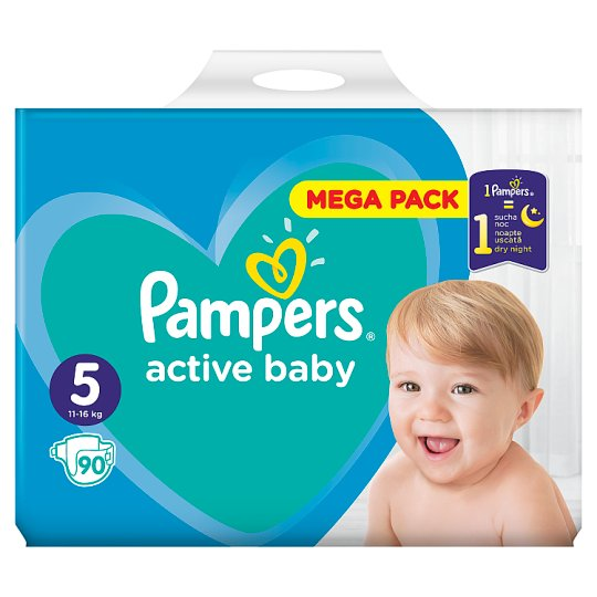 Pampers Active Baby, 5-as Méret, 90 db Pelenka, 11-16 kg