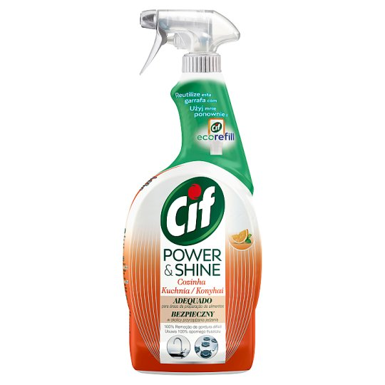 CIF Power & Shine Konyhai Zsíroldó Spray 750 ml