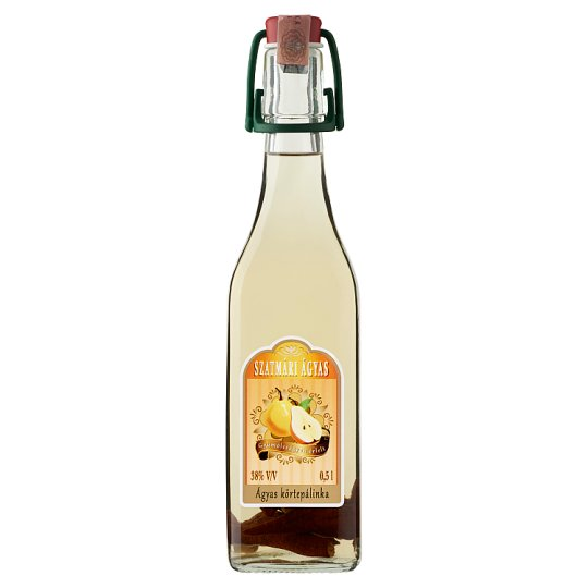 Szatmári Pear Palinka on Fruit Bed 38% 0,5 l