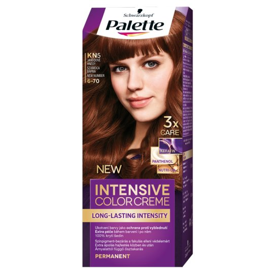 Schwarzkopf Palette Intensive Color Creme intenzív krémhajfesték 6-70 szamóca barna (KN5)