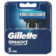 Gillette Mach3 Turbo Razor Blades, 5 Refills