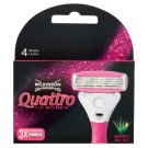 Wilkinson Sword Quattro for Women Razor Head with 4 Blades 3 pcs