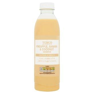 Tesco gyümölcsalapú ital ananászlével, banánpürével és kókuszlével 750 ml