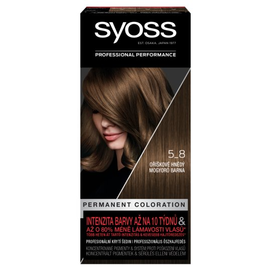Syoss 5-8 Hazelnut Brown Permanent Hair Colorant