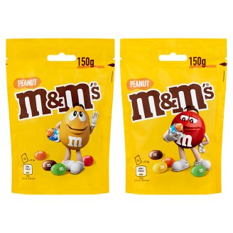 M&M's Milk Chocolate Covered Peanuts in a Crisp Coloured Shell 150 g