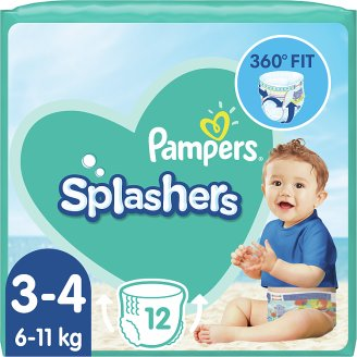 Pampers Splashers Size 3-4, 12 Disposable Swim Pants