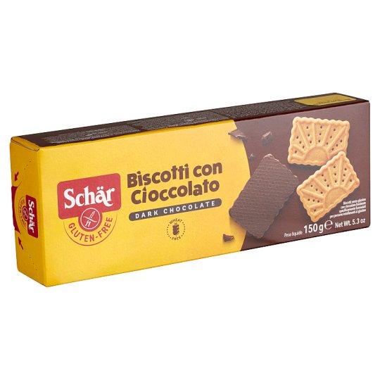 Schär Gluten and Wheat Free Biscuits with Dark Chocolate 150 g