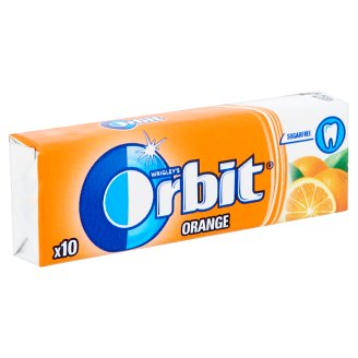 Wrigley's Orbit Orange Sugar-Free Chewing Gum with Orange Flavour 10 pcs 14 g