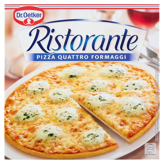 Dr. Oetker Ristorante Pizza Quattro Formaggi Quick-Frozen Pizza with Four Cheese 340 g