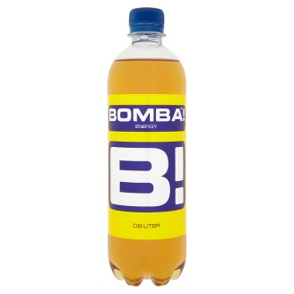 BOMBA! Carbonated Energy Drink with Sugar and Sweeteners with High Caffeine Content 600 ml