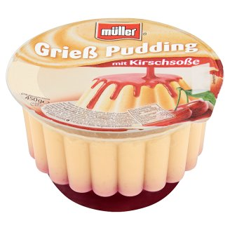 Müller Semolina Pudding with Sour Cherry Dressing 450 g