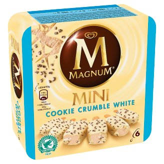 Magnum Mini Cookie Flavour Ice Cream Coated with White Chocolate and Cookie Crumbs 6 pcs 360 ml