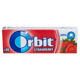 Orbit Strawberry Sugar-Free Strawberry Flavoured Chewing Gum with Sweeteners 10 pcs 14 g